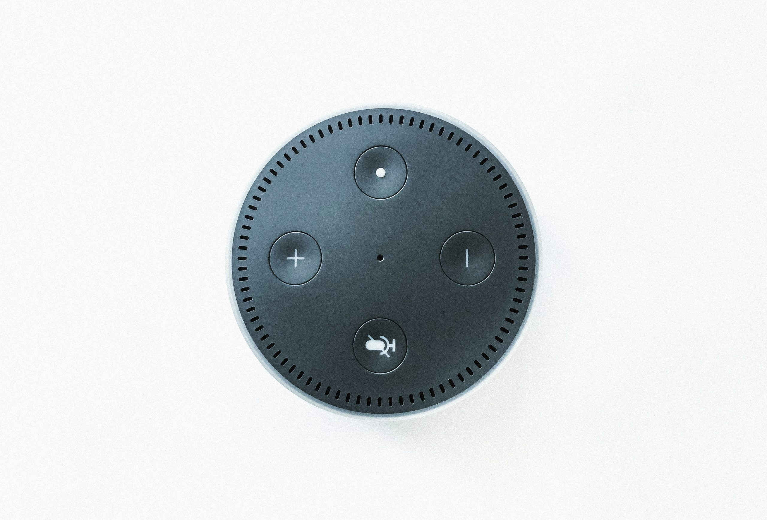 black Amazon echo dot speaker